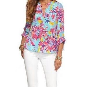 Lilly Pulitzer Delray Tunic Sippin Trippin Top